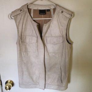 Trouve leather vest